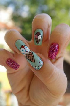 Ice cream #nails  Marketing for Nail Technicians  http://www.nailtechsuccess.com/nail-technicians-secrets/?hop=megairmone