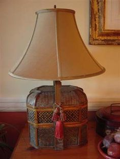 This one made me think of an old tin that I have that could work as a lamp base.