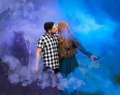 Smoke bomb Engagement Shoot. Couple goals.