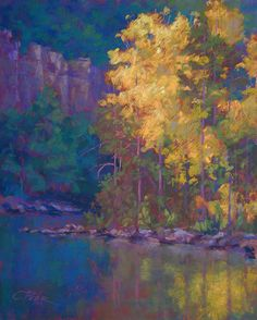 Morning on the Buffalo. Charles Peer.  pastel