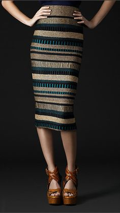Burberry structured skirt.