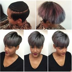 Fab Weave Install By - Black Hair Information Community Quick Weave Hairstyles, Permed Hairstyles, Black Girls Hairstyles, Girl Short Hair, Short Hair Cuts, Short Hair Styles, Pixie Styles, Natural Hair Tips, Natural Hair Styles