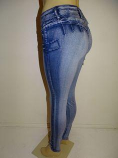 M.MICHEL Push up Levanta Cola Colombian Skinny Butt Lift Blue Jeans Size 13 #MMICHEL #SlimSkinny