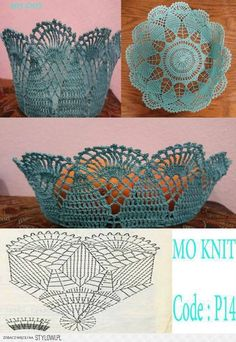 How to Crochet a Solid Granny Square Crochet Bowl, Crochet Basket Pattern, Crochet Stitches Patterns, Crochet Art, Thread Crochet, Crochet Gifts, Crochet Motif, Crochet Designs, Crochet Doilies