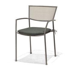 Fauteuil de jardin en acier empilable Gris cosmos - Cassiopia - Les fauteuils de jardin - Les tables et chaises - Jardin - Décoration d'intérieur - Alinéa