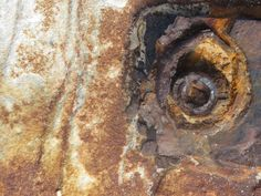 rusted bolt in the sandstone@ Boat Harbour, Cronulla NSW