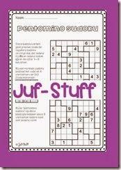 Extra werkblad groep 6/7/8. pentomino sudoku Juf-Stuff: Sudoku, maar dan anders...