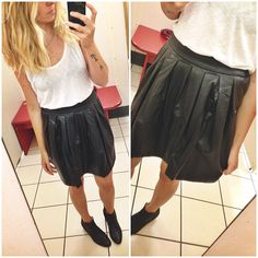 Obsessed with this vegan leather skirt by xhilaration, better yet it's only $19.99! // #targetdoesitagain #Padgram