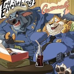 Zootropolis / Zootopia - #Clawhauser #Bogo (by MasaBowser)