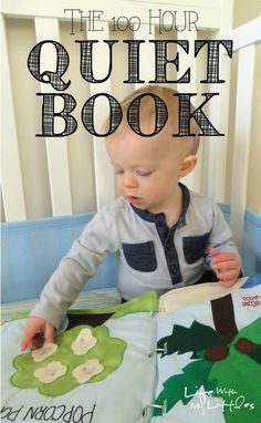The ultimate quiet book! The 100 Hour Quiet Book: 22 amazing quiet book pages with links to all the patterns! Felt Books, Quiet Books, My Books, Sewing For Kids, Baby Sewing, Diy For Kids, Toddler Activities, Activities For Kids, Indoor Activities