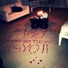 Hasil gambar untuk romantic birthday surprises for her