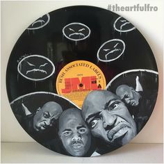 #artmeetsmusic with this illustration of Onyx on vinyl by the art genius @theartfulfro #hiphophead #undergroundhiphop #hiphopradio #hiphop