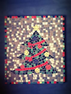 Kerstboom- mozaiek  Christmas mosaic