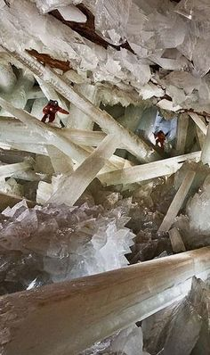 The Naica Mine in Mexico is is truly stunning. Look closely and you'll see two men in the picture, and yes that's how BIG these crystal formations are. Discover 51 natural wonders so amazing it's hard to believe they exist