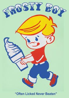 Posts about Frosty Boy written by longwhitekid Vintage Advertisements, Vintage Ads, Vintage Images, Vintage Posters, Top Tv Shows, Kiwiana, Graphic Design Illustration, Childhood Memories, Nostalgia