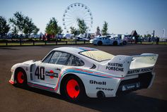 Jacky Ickx - 1977 Martini Porsche Baby (Chassis at the 2015 Silverstone Classic (Photo Slot Car Racing, Race Cars, Auto Racing, Le Mans, Old Sports Cars, Porsche 935, Martini Racing, Classic Motors, Amazing Cars