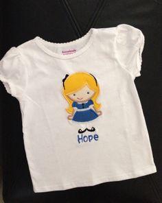 Alice in Wonderland Shirt Toddler Shirt by EMembroiderycrochet, $18.00