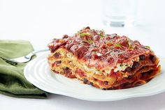 Cheeseless Black Bean Lasagna