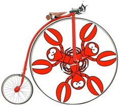 lobster pictures riding a bike | Lobster Roll Relay - FAQ | Velo Cape ... Velociraptor Keychain