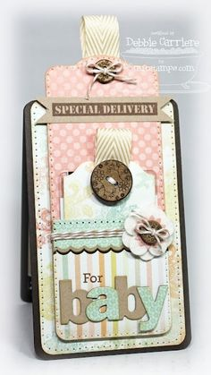Baby tag/gift card holder