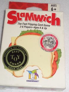 Slamwich Card Game Educational Gamewright Best Toy Award 2 to 6 Players Age 6 Up #Gamewright