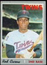 #fishingshopnow 1970 Topps Regular (Baseball) Card# 290 Rod Carew of the Minnesota Twins VG Condition