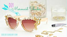 DIY Mermaid Sunglasses Craft Kit - how incredible! Create chic mermaid sunglasses for an under the sea party.