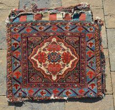 "Early Kurdish Pile Bag, measures 25"" x 25"".  Nice even pile."