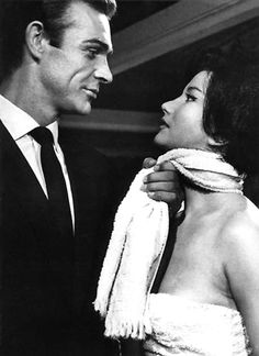 Sean Connery and Zena Marshall  From Russia With Love, 1963
