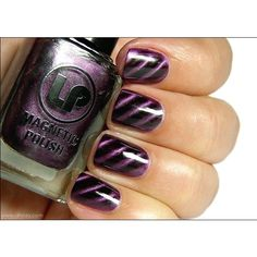 Magnetic Purple Nail Polish ❤ liked on Polyvore