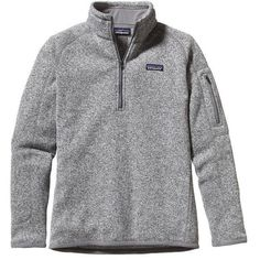Patagonia Women's Better Sweater® Quarter Zip Fleece | Sumac Red ($99) ❤ liked on Polyvore