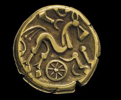 Iron Age Coin, Gold - Ruscombe, Berkshire, England, 50–20 BC © The Trustees of the British Museum