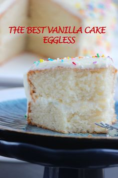 This vanilla cake is light fluffy and super moist it has fine and soft crumb and is very easy to make moist vanilla cake recipe from scratch Brownie Desserts, Oreo Dessert, Mini Desserts, Eggless Desserts, Eggless Recipes, Eggless Baking, Easy Cake Recipes, Vegan Cupcake Recipes, Egg Free Desserts