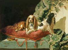 King Charles Spaniels by Vincent de Vos Cavalier King Charles Spaniel, Spaniel Breeds, Cute Dog Photos, Dog Blanket, Collars, Dog Paintings, Dog Portraits, Dog Art, Animal Photography
