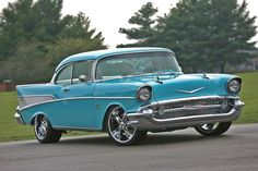 When it comes to modernizing a classic design, you'd have to look long and hard to pick a better foundation than the lines of a 1957 Chevy. 1957 Chevy Bel Air, Chevrolet Bel Air, Chevrolet Trucks, Ford Trucks, 4x4 Trucks, Diesel Trucks, Chevrolet Impala, Lifted Trucks, Car Colors