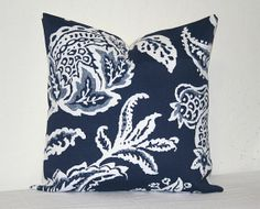 Navy Blue and White 18 inch Decorative Pillows Accent Pillows Throw Pillow Cushion Covers
