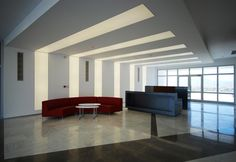 Lit Stretch Ceiling System from USA Stretch Ceilings -- manufactured in 1.35-2.4 meter wide rolls, with installation up to 100 sq ft -- can change colors on an even rotation