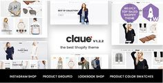 Claue - Clean, Minimal Shopify Theme for online fashion store, personal blog…. It comes with a lot of great features that would take you months to develop. It is fully responsive, it looks stunning on all types of screens and devices. Including easy to set up for MailChimp, Contact Form, Instagram Feed, Lookbook, Product Colour Swatch, Product Colours Swatch Gallery Images, Product Video Thumbnail, Instagram Shop, Product Bundle.  #ajaxlazyload #ajaxproductfilter #BoughtTogether #colorswatch…