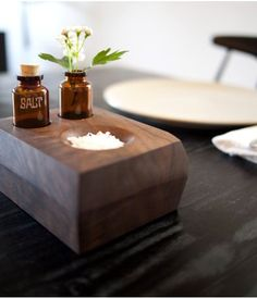 Pin for Later: DIY Decor Projects Worth Tackling in 2016  This salt dish and bud vase would be an amazing hostess gift. Source: Design*Sponge