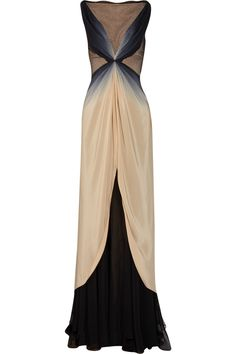Zac Posen ombre silk gown. Sigh.  If only I were tall...