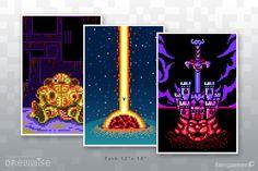 "{Chronotrigger, Earthbound and Super Mario RPG} ""Super RPG Trio"" video game art print"