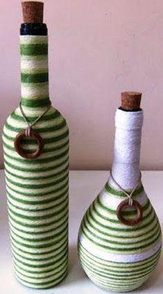 Aflam impreuna 20 de idei de obiecte decorative spectaculoase realizate din banalele sticle de sticla si lana. Dar nu oricum, ci artistic