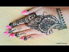 How To Make Henna Design For Karwachauth Indian Festival Easy Tutorial SuperPrincessjo