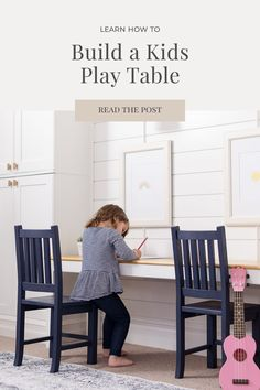 A DIY kid-sized play table is a perfect addition to any playroom or kid's space, providing a the perfect zone to colour, play games or finish homework. Build your own DIY kid-sized play table using these easy free plans.