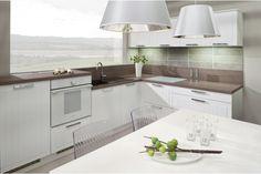 LADA Biela arctic Kitchen Cabinets, Kitchen Island, Art Pieces, Home Decor, Kitchens, Kitchen Cabinetry, Homemade Home Decor, Decoration Home, Kitchen Shelving Units