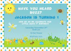 Printable Cute Bugs Birthday Party or Baby by PartyInnovations09