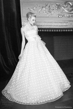 Interesting idea- the polka dots make the dress feel a little more playful