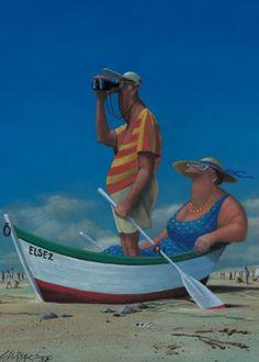 Brushstrokes in the world: Humor in the illustrations Gerhard Glück