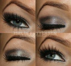 grey smokey eye make up