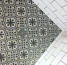 Metro white wall tiles and Berkeley floor tiles